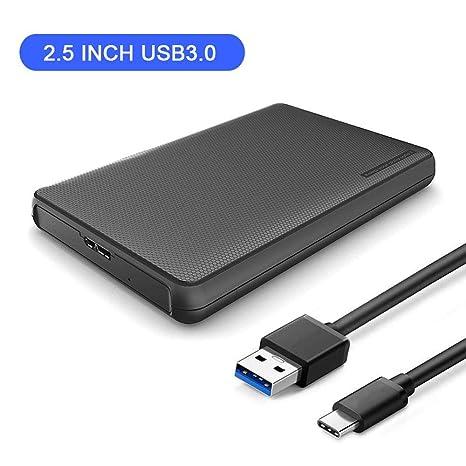 Volwco - Carcasa para Disco Duro Externo USB C (2,5