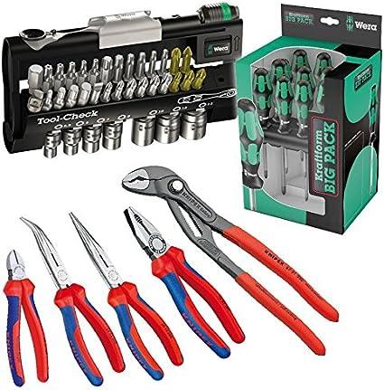 Wera Knipex Tool de check 1 SB 05073220001 Juego de alicates 9 5 piezas Juego de