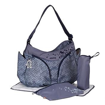 Amazon.com: Okiedog Mondo Messenger bolsa de pañales, Azul: Baby