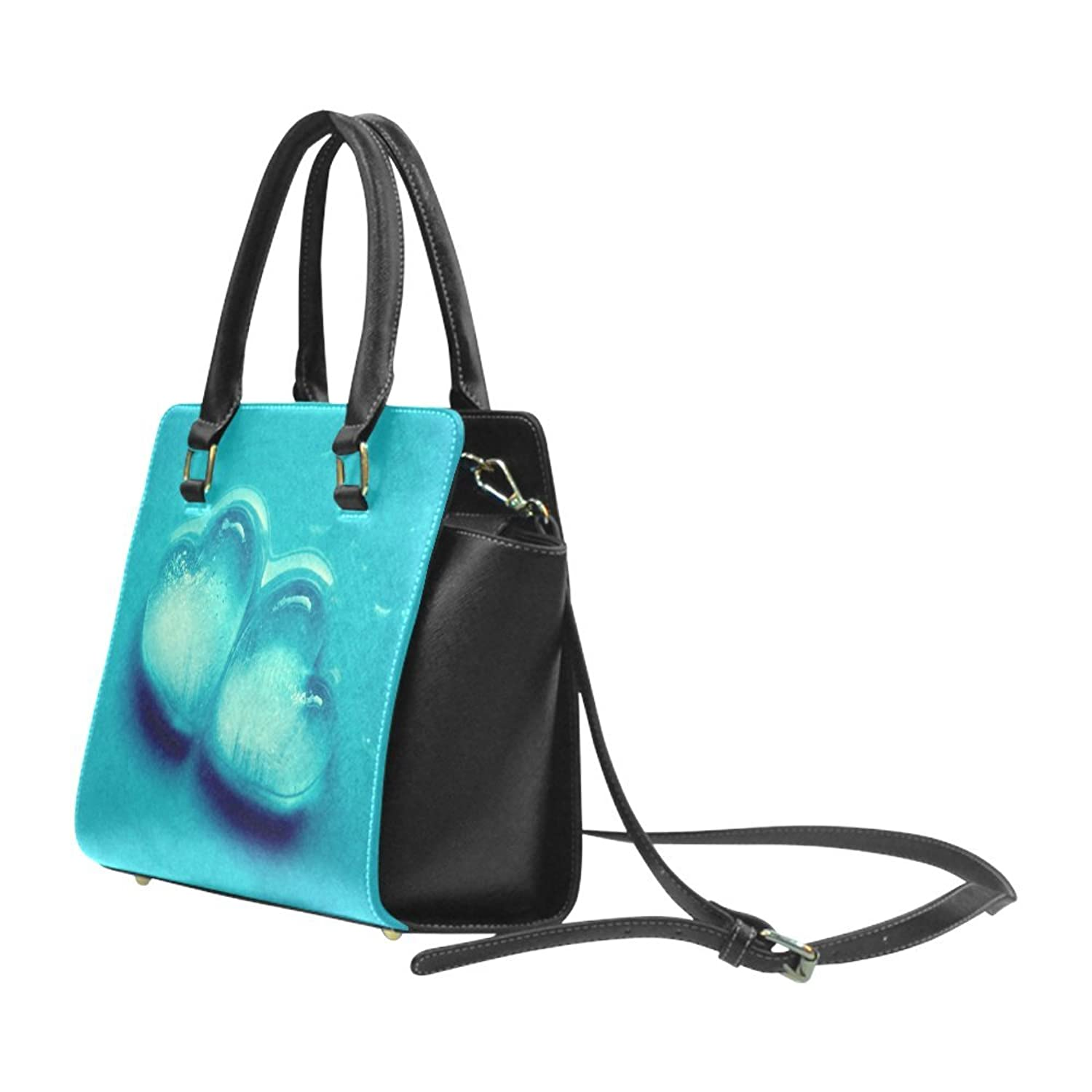Personalized custom atlas style Rivet Shoulder Handbag.