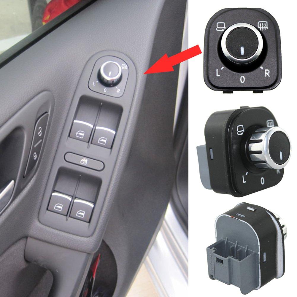 Zyurong 4 Pulsanti Interruttore Specchietto Retrovisore Auto Manopola di Regolazione