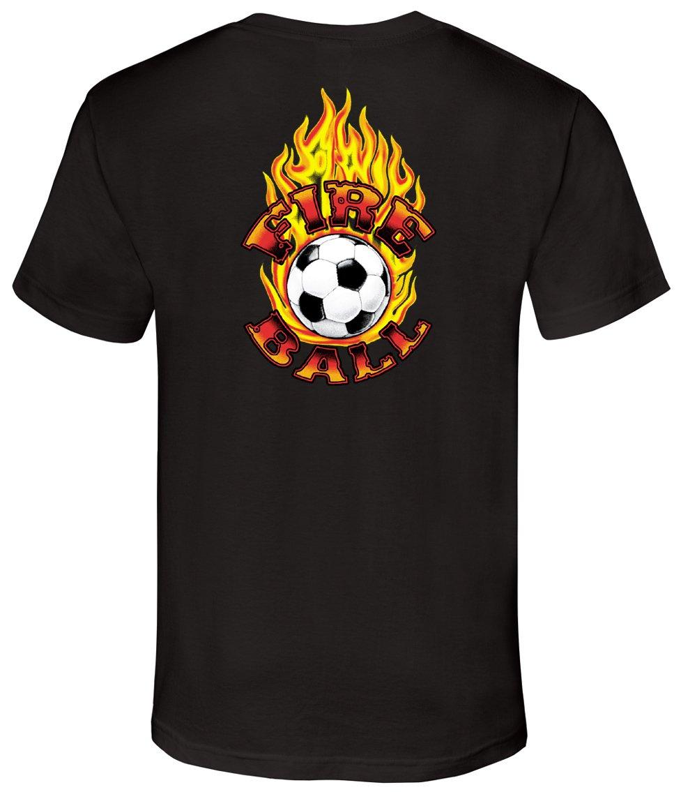 Soccer Tシャツ: Fireball Soccer B00Q3I85DM Youth Small|ブラック ブラック Youth Small
