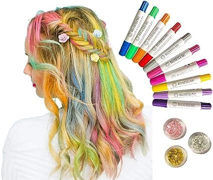 Bolígrafos de tiza para el cabello metálico para niños ...