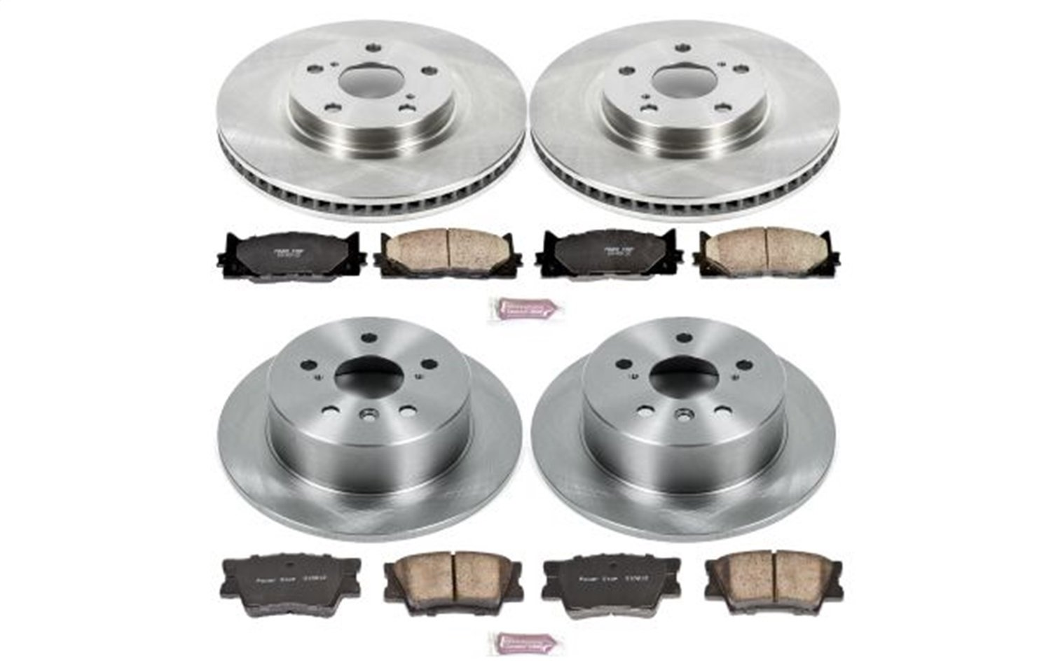 Autospecialty KOE6480 Daily Driver 1-Click OE Replacement Front/Rear Brake Kit Power Stop