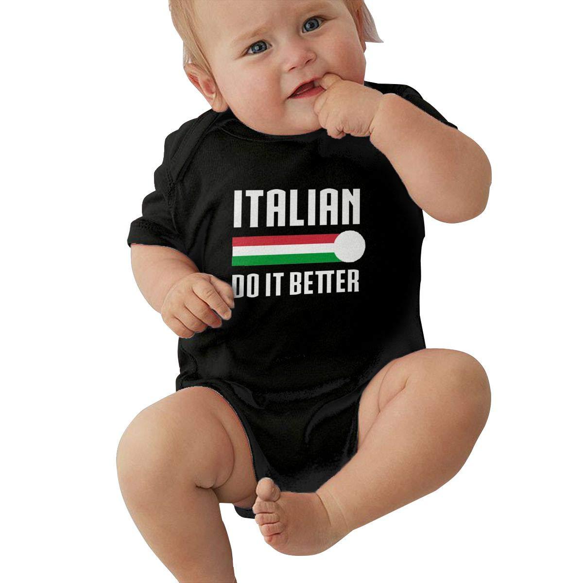 Newborn Baby Girl Boy Italians Do It Better Soccer OutfitsRomper Jumpsuit Short Sleeved Bodysuit Tops Clothes