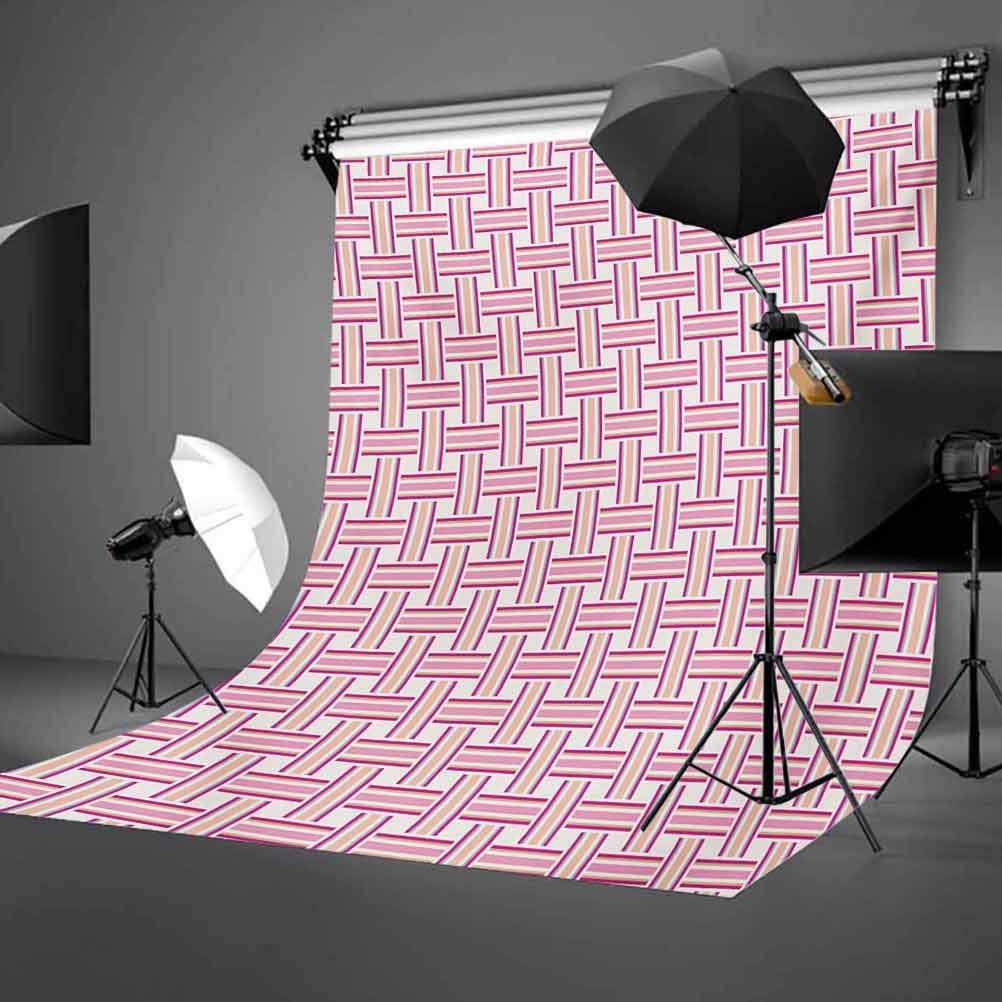 Geometric 10x12 FT Backdrop Photographers,Crossed Stripes Bold Lines Bands Lattice Mesh Like Pattern Classical Background for Child Baby Shower Photo Vinyl Studio Prop Photobooth Photoshoot