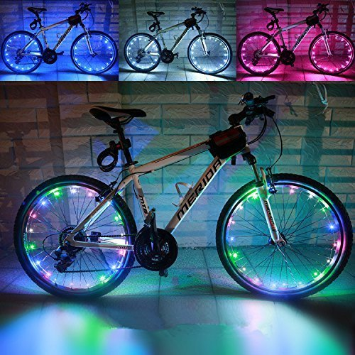 Soondar¨ Colorful Rainbow 20-LED Wheel Signal Lights Lamp for Bikes Bicycles