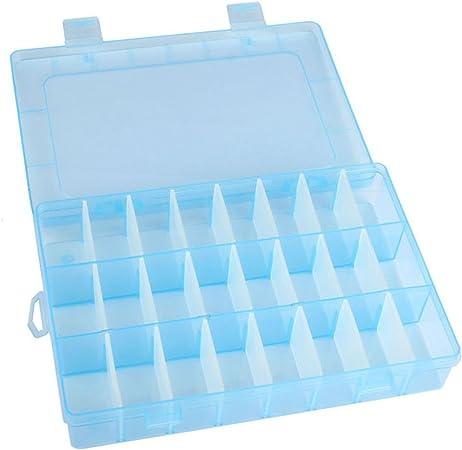 TACOLI Caja de Almacenamiento con 24 Compartimentos, Caja de plástico para Joyería, Caja para Separador de cajones y cosméticos, Organizador de Maquillaje: Amazon.es: Hogar