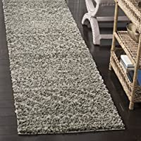Safavieh Arizona Shag Collection ASG741B Southwestern Brown and Ivory Runner (23 x 12)