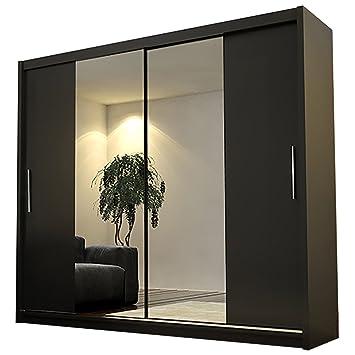 Ye Perfect Choice Wardrobe Alayna 4 Mirror Sliding Doors Modern