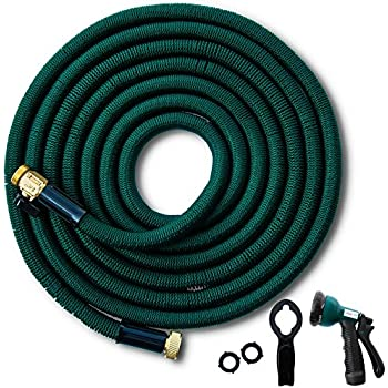 50 Ft Expandable Garden Hose. Triple Latex Layers. Flexible, Kink