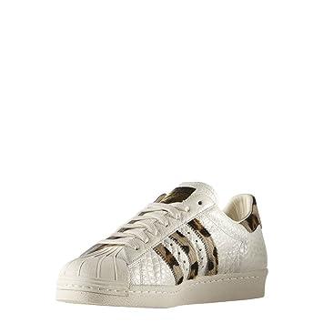 f26e8e35a4 Adidas Originals SUPERSTAR 80s ANIMAL White Women Sneakers Shoes:  Amazon.co.uk: Sports & Outdoors