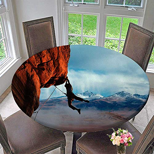 Mikihome Round Premium Table Cloth Rock Climbing Perfect for Indoor, Outdoor 59