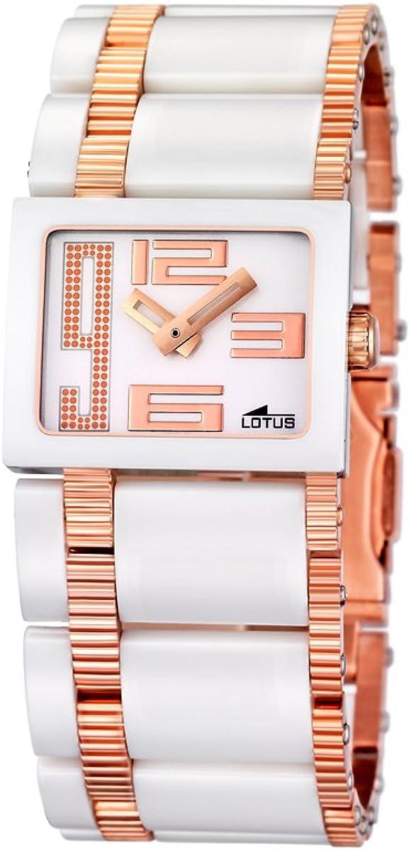Lotus 15598/1 - Reloj de Mujer de Cuarzo, Correa de Acero Inoxidable