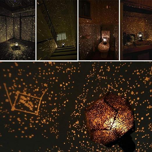 Lámparas de mesa y mesilla de noche Star Lamp Projector, USB ...