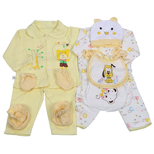 7880902fa Amazon.com  Peak-Peak 18pcs Newborn Baby Clothes Girls Boys Clothing ...