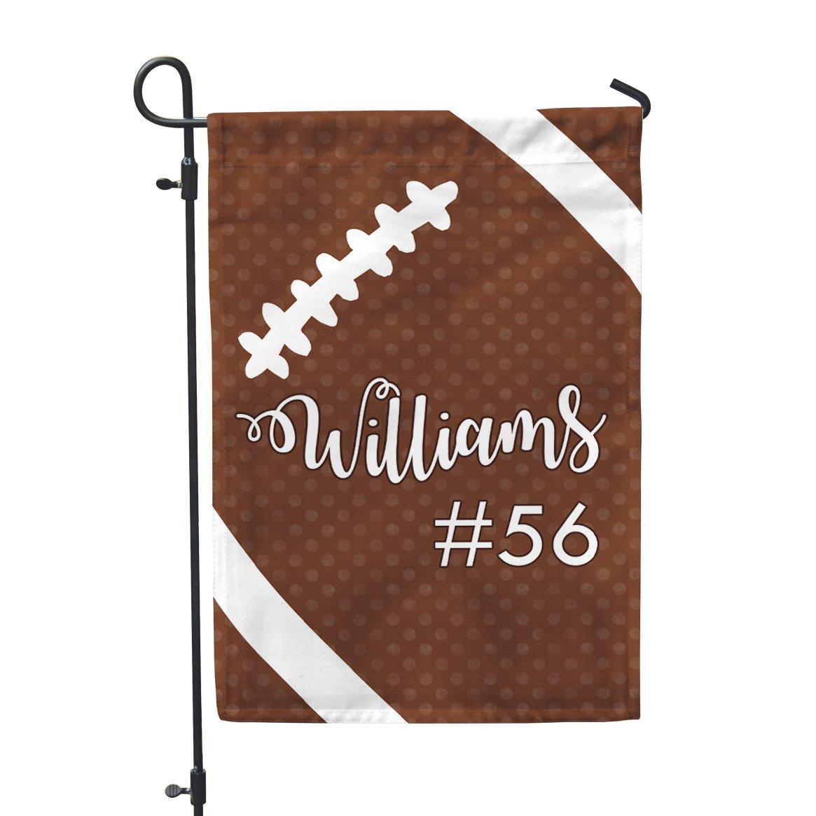 Second East Personalized Custom Tis The Season Football Garden Flag Outdoor Patio Seasonal Holiday Fabric 12''X18''