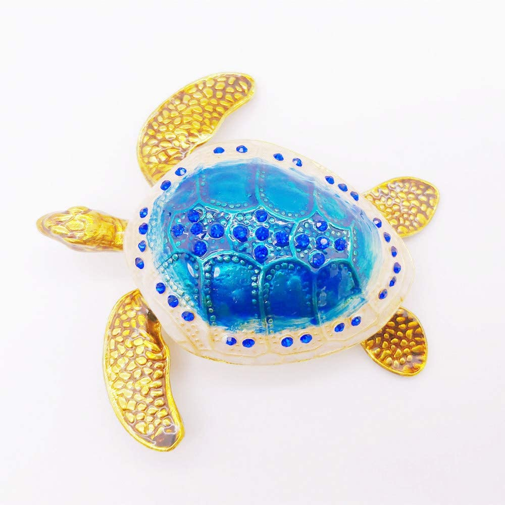 Amazon Com Gishima Sea Turtle Trinket Box Collectible Figurines Hinged Jewelry Boxes For Ring Holder Or Unique Gift Home Kitchen