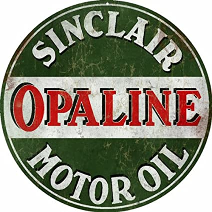Image Unavailable. Image not available for. Color: Vintage Looking Sinclair Opaline Motor Oil ...