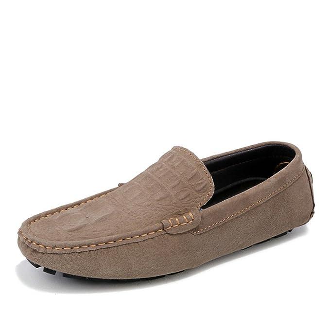 Bridfa Zapatos casuales de cuero para hombres Zapatos de estilo cocodrilo Mocasines Mocasines suaves Zapatos de hombre de conducción: Amazon.es: Ropa y ...