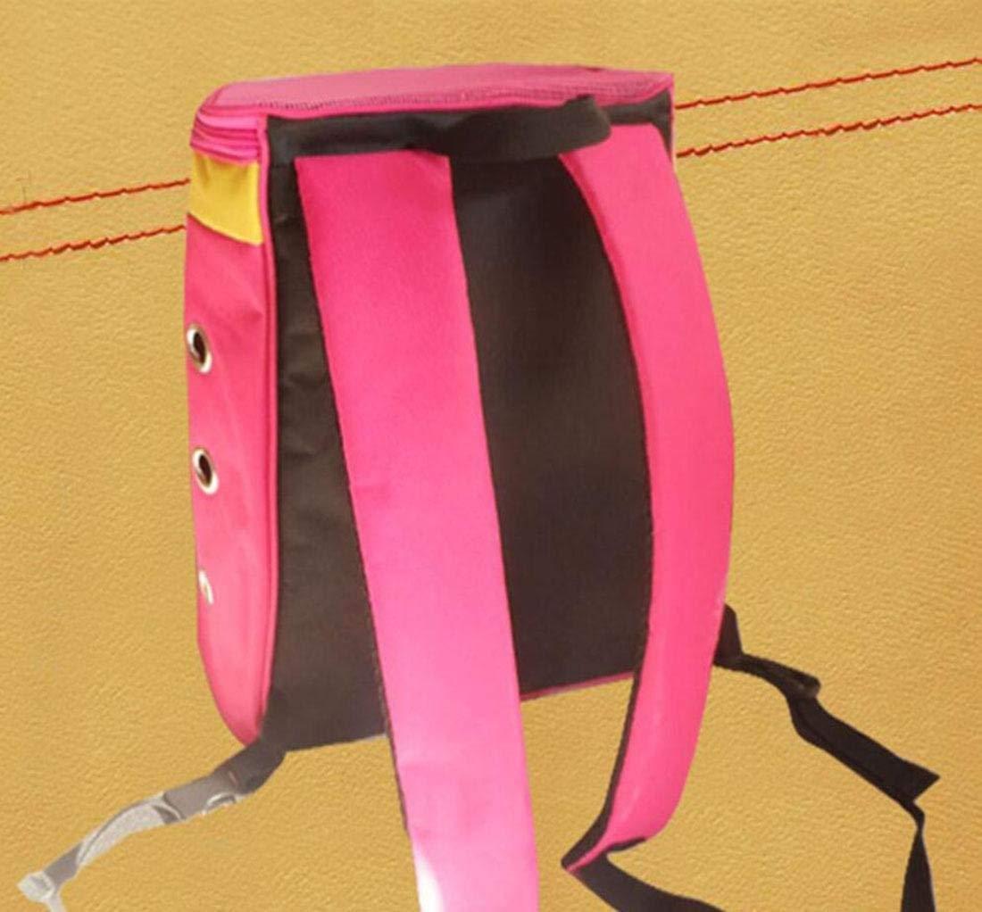 Travel Car Car Car Pet Marsupio per animali domestici con Top Mesh traspirante Outdoor Front Cat Carrier Borsa per animali domestici Zaino regolabile per campeggio itinerante, rosa rosso Borsa per animali domes fe7676