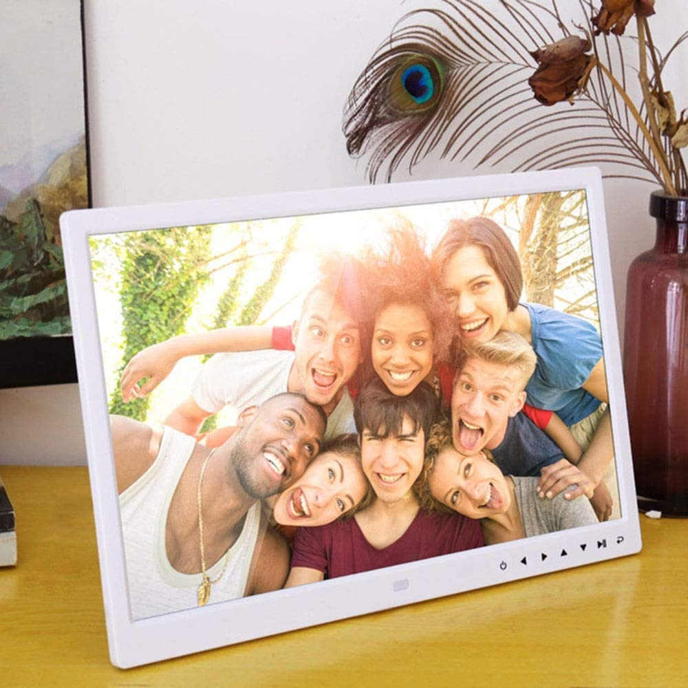 Color : Black , Size : 15.4inch Digital Picture Frames 15 Inch Digital Picture Frame 1280800 Pixels High Resolution Smart Electronic Frame Auto On//Off Timer Remote Control Included Video Frame