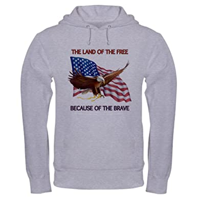 b1be6604 CafePress Land of The Free. Pullover Hoodie, Classic & Comfortable Hooded  Sweatshirt Heather Grey