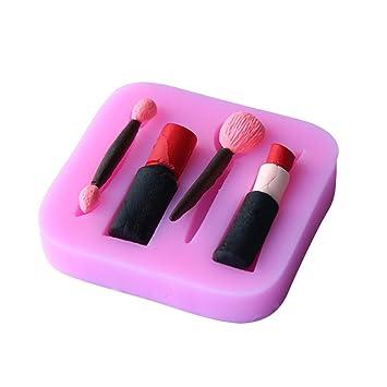 Originalidad diseñado maquillaje pintalabios Chocolate Fondant moldes de silicona para jabones Candy Gummies forma de arcilla