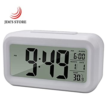 Relojes digitales Snooze Reloj Reloj LED de reloj de tiempo con termómetro grande mesa luminosa: Amazon.es: Hogar