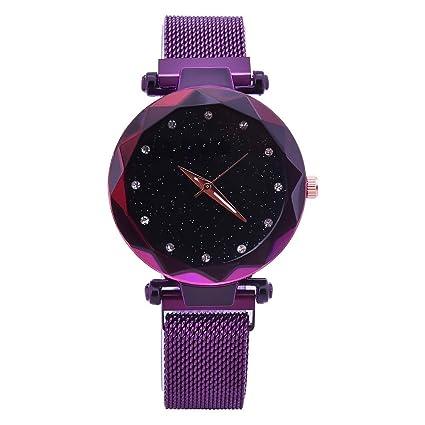 Watopi - Reloj analógico para el día de la madre con diamantes de imitación y correa