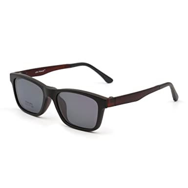 2ac571b9394 Retro Polarized Magnetic Sunglasses Clip on TR Eyeglasses Frame Men Women  (Matte Black Mirror