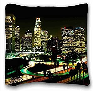 Custom Cotton & Polyester Soft City Custom Cotton & Polyester Soft Rectangle Pillow Case Cover 16x16 inches (One Side) suitable for Twin-bed
