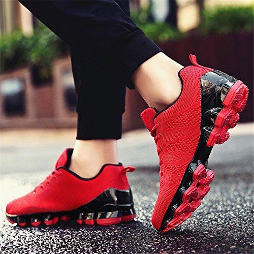 Heren Sportschoenen Schokabsorptie Draagbare Antislip Loopschoen Kleurrijke Casual Sneakers Training Rood