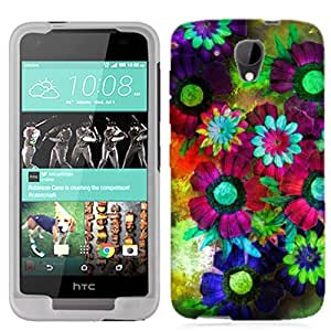 for HTC Desire 520 Colorful Flowers Phone Cover Case