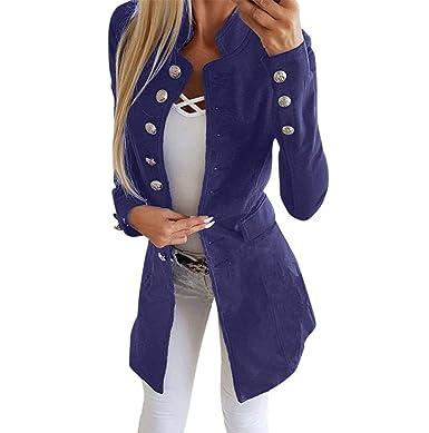 04819aef962e LONUPAZZ Cardigan Mode Femme Blazer Basique Bureau Slim Manteau De Costume  De Revers Veste Bouton