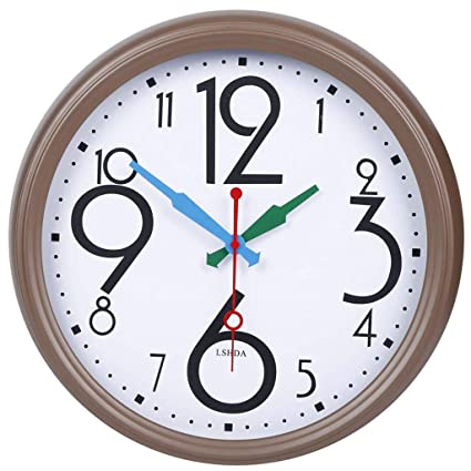 Amazoncom Cjh Creative Large Numbers Clock Face Living Room Mute