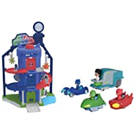 Majorette - PJ Masks - Garage Quartier General Pyjamasques + 4 Véhicules