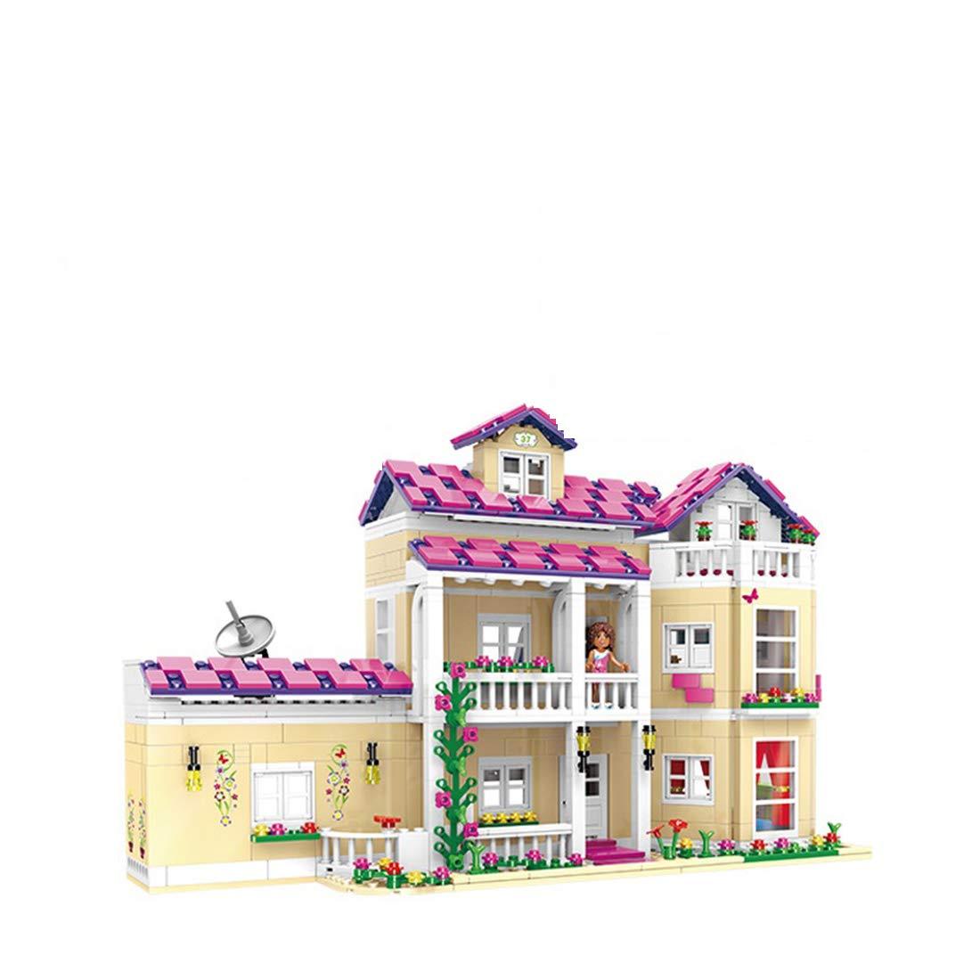 moda Bloques De Construcción Ensamblados DIY Puzzle Juguetes Outdoor Activity Center Center Center - Juguetes para Niñas - Happy Dormitory (1334Pcs)  calidad garantizada