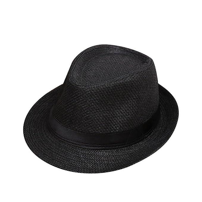 0373958740e ❤ Mealeaf ❤ Children Kids Summer Beach Straw Hat Jazz Panama ...