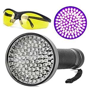 Escolite UV Flashlight Black Light, Ultraviolet Blacklight Detector for Dog Urine, Pet Stains and Bed Bug (100 LED UV Flashlight)