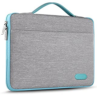 """Hseok Laptop Sleeve 13-13.5 Inch Case Briefcase, Compatible All Model of 13.3 Inch MacBook Air/Pro, XPS 13, Surface Book 13.5"""" Spill-Resistant Handbag For Most Popular 13""""-13.5"""" Notebooks, Silver Grey"""