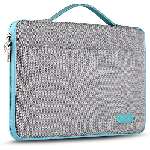 Hseok 13 Inch Laptop Sleeve Case, Compatible 2018 New MacBook Air Retina A1932 | MacBook Pro 13 Inch A1706 / A1708 | Surface Pro 6, Certified Water-Resistant Shockproof Briefcase Handbag, Gray