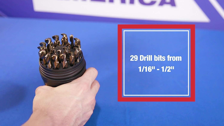 3.15 mm Body Diameter x 1.25 mm Point Diameter Magafor 81105031512 Center Drill Bit 60 Degree Double End M42 Cobalt