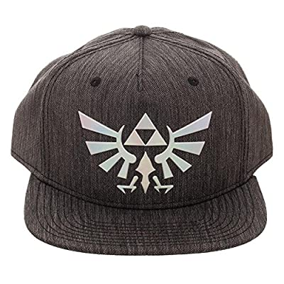 Legend of Zelda Logo Iridescent Weld Woven Fabric Snapback Hat from Nintendo