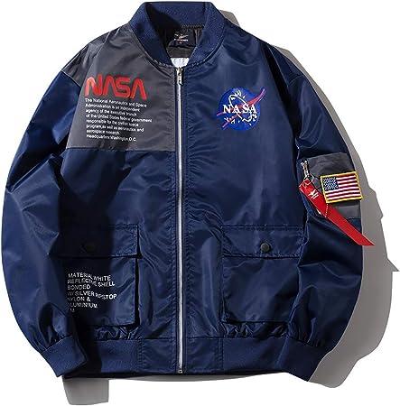 W&TT Bomber Veste de vol Homme Femmes NASA Air Force Vol