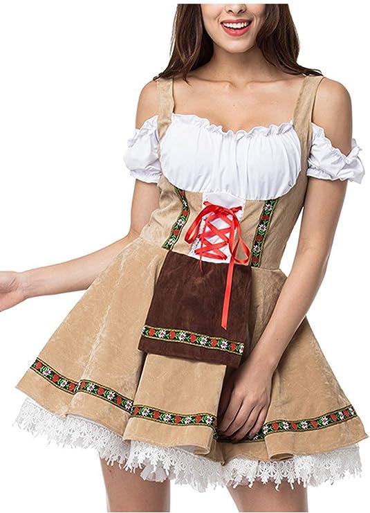Yqdayshow - Disfraz de Tirolesa Alemana de Cerveza, Caqui, Medium ...