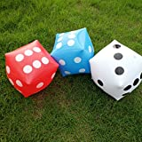 JEVERGN 14 Inch Outdoor Fun Giant Inflatable Dice