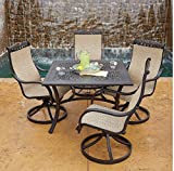 Cheap 5-Piece Dining Set Miller's Creek Collection Features Aluminum Frame with Rocking and Swivel Design