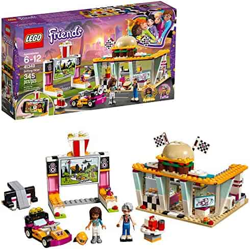 LEGO Friends Drifting Diner 41349 Race Car and Go-Kart Toy Building Kit for Kids, Best Creative Gift for Girls and Boys (345 Pieces)