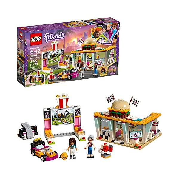 61VhSOA NdL. SS600  - LEGO Friends Drifting Diner 41349 Race Car and Go-Kart Toy Building Kit for Kids, Best Creative Gift for Girls and Boys…